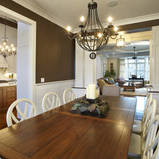 Farmhouse Dining Room by Kristin Petro Interiors, Inc.