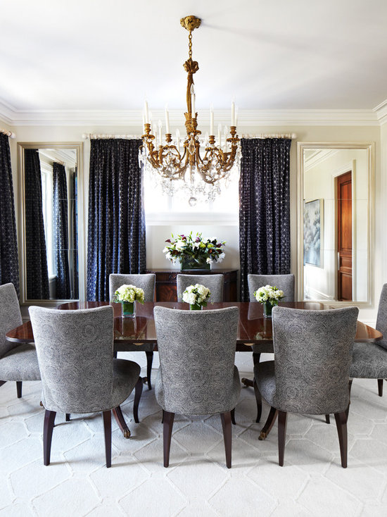 gray and navy dining room design ideas, remodels & photos