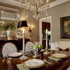 traditional dining room by McCroskey Interiors