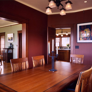 Dining room - traditional dining room idea in Seattle