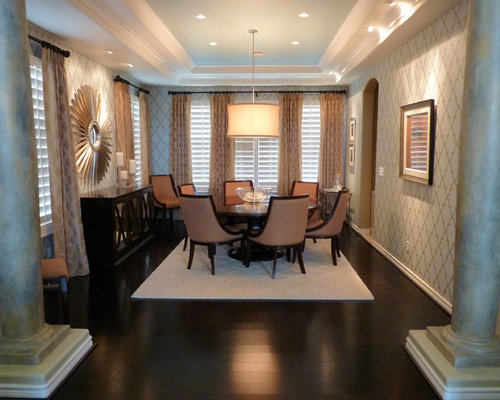 Large Round Dining Table   Houzz