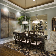 traditional dining room by Rockwood Cabinetry