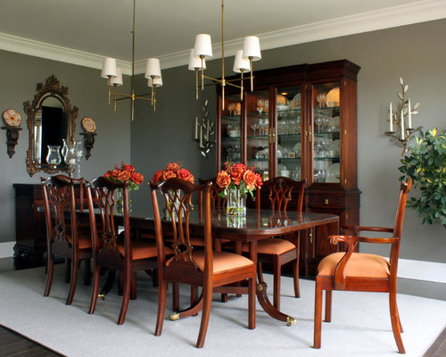 Mahogany furniture houzz for Dining room wall furniture