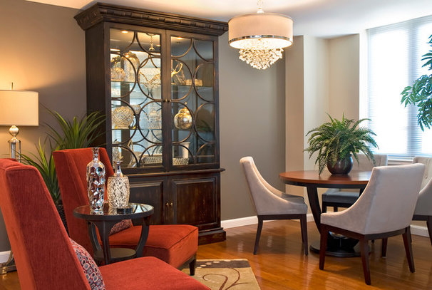 Traditional Dining Room Warm Trending