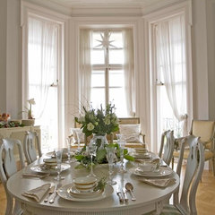 traditional dining room by swedish interior design
