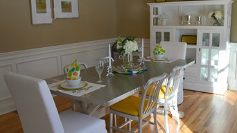 Traditional dining room with modern classic look