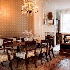 Traditional Dining Room traditional dining room with modern twist