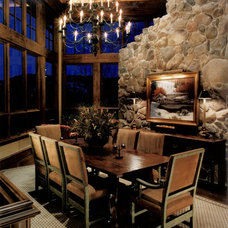 Rustic Dining Room by GARY FINLEY, ASID