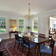 Traditional Dining Room by Melichar Architects