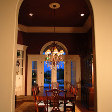Traditional Dining Room by JOHN DANCEY Custom Designing/Remodeling/Building