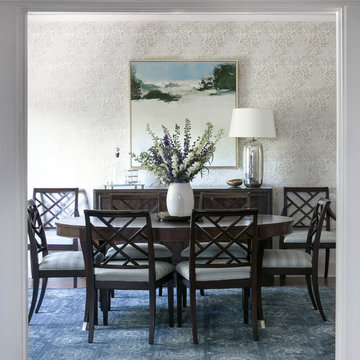 Traditional Living Spaces Get a Contemporary Makeover