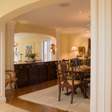 Transitional Dining Room by Victor Liberatore Interior Design