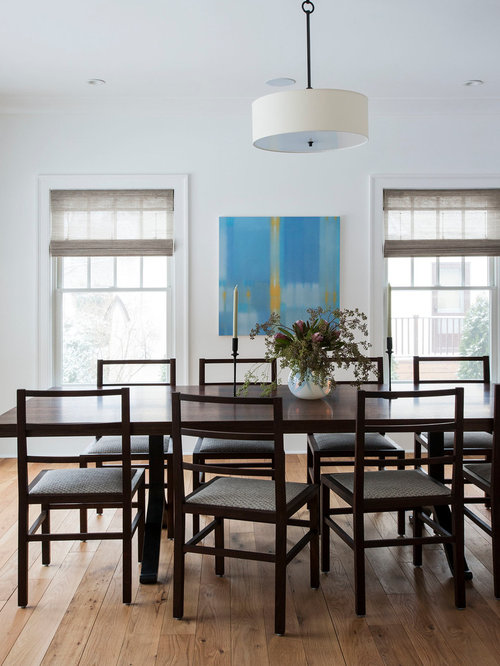 Mid sized transitional enclosed dining room photo in Auckland with white  walls. Simple Dining Room   Houzz