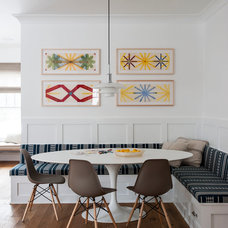 Transitional Dining Room by indi interiors