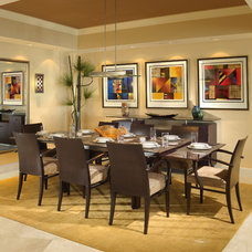 Contemporary Dining Room by Weiss Design Group, Inc.