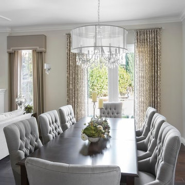 Transitional Dining in the Great Room