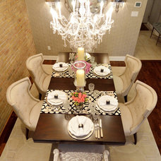 Transitional Dining Room by Alexandra Naranjo Designs