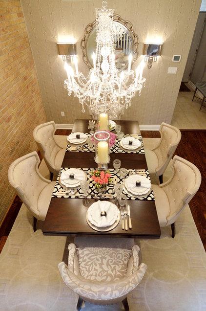 Transitional Dining Room by Alexandra Naranjo Designs