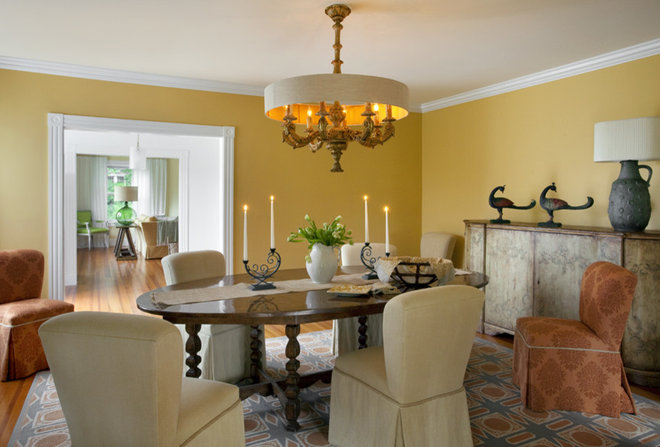 Transitional Dining Room by Andrew Suvalsky Designs