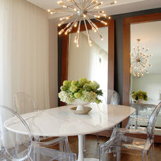 transitional dining room by Annette English