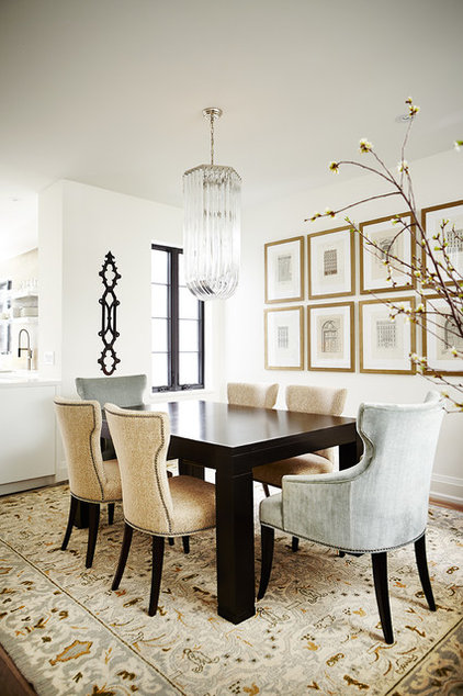 Transitional Dining Room by Barbara Purdy Design Inc.