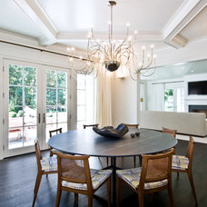 Transitional Dining Room by Benco Construction