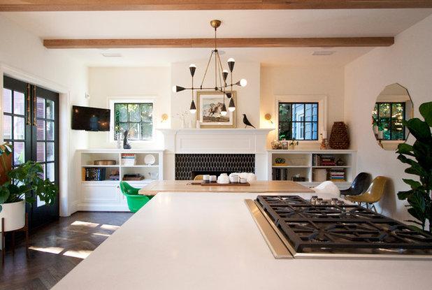 Transitional Dining Room by bright designlab