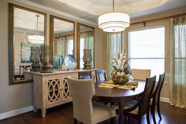 Transitional Dining Room by BW Interiors
