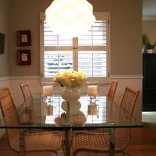 Transitional Dining Room by Fiorella Design