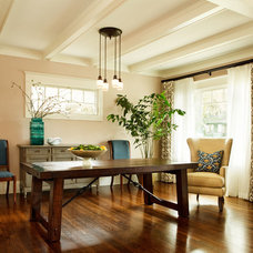 Transitional Dining Room by Garrison Hullinger Interior Design Inc.