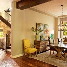 Transitional Dining Room by Garrison Hullinger Interior Design Inc.