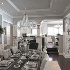 Transitional Dining Room by Allora Designs