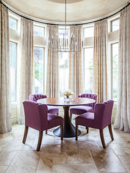 example of a dining room design in houston with beige walls
