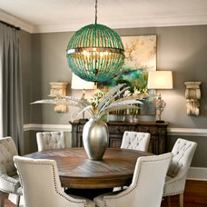 transitional dining room by LGB Interiors