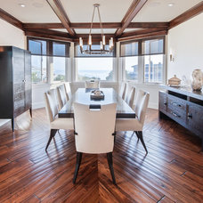 Transitional Dining Room by Nader Essa  Photography