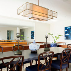 Transitional Dining Room by Peter Vincent Architects