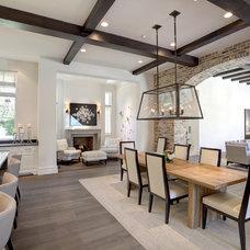 Mediterranean Dining Room by Phillip Jennings Custom Homes