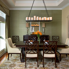 Transitional Dining Room by PT Designs Inc. Paula Tranfaglia - Decorating Den