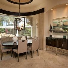 Transitional Dining Room by Renée Gaddis Interiors