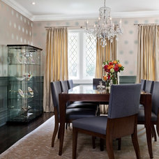 Transitional Dining Room by Sara Bederman Interior Design