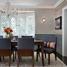eclectic dining room by Sara Bederman Interior Design