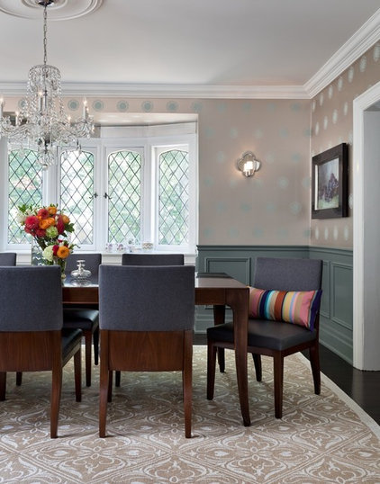 Transitional Dining Room by Sara Bederman Interior Design