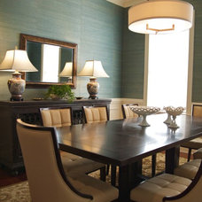Contemporary Dining Room by Sharon Payer Design, llc