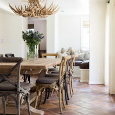 Transitional Dining Room by Stocker Hoesterey Montenegro