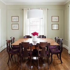 Transitional Dining Room by TerraCotta Studio