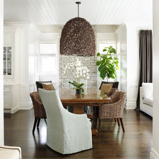 Transitional Dining Room by Tiburon Homes LLC
