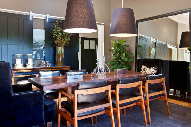 Transitional Dining Room by Urrutia Design