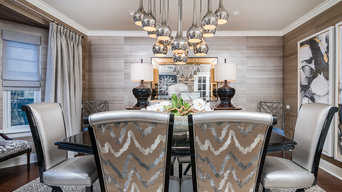 Transitional Dining Room with an Asian Flair