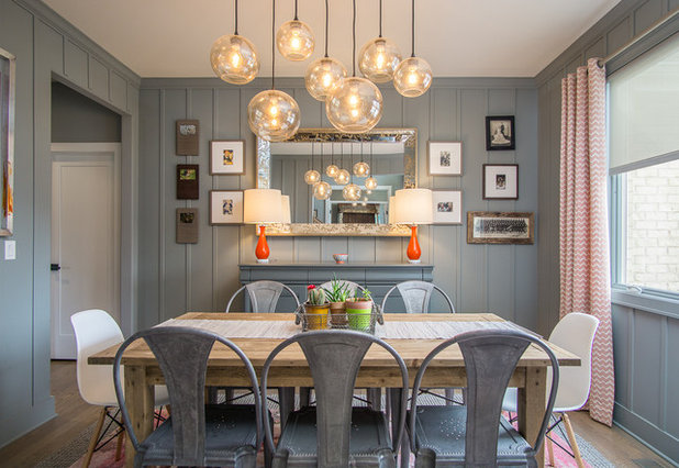 Transitional Dining Room by Sublime Homes