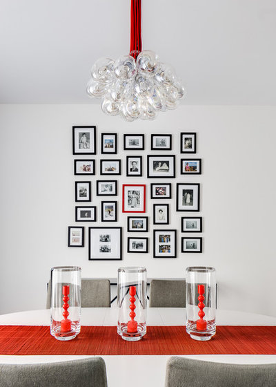 Transitional Dining Room by Jennifer Gustafson Interior Design
